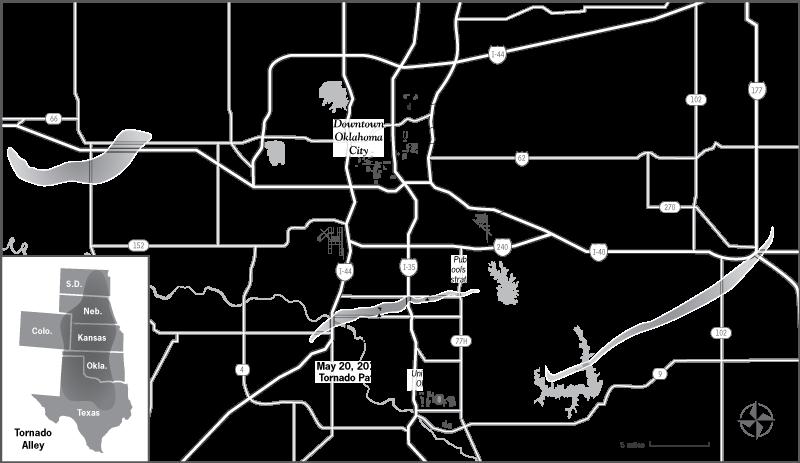 tornado map oklahoma city The Mercy of the Sky book